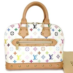 100% Auth Louis Vuitton Alma PM Multicolor Handbag